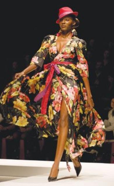 Hilary samples Cape Town Fashion week