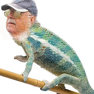 Political chameleon shows his colours